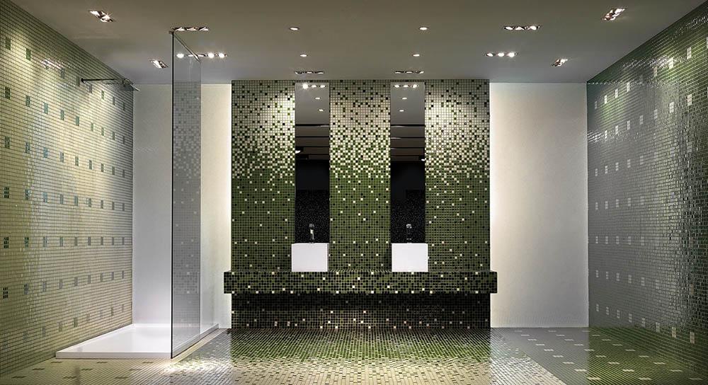 Mosaico decoración baño
