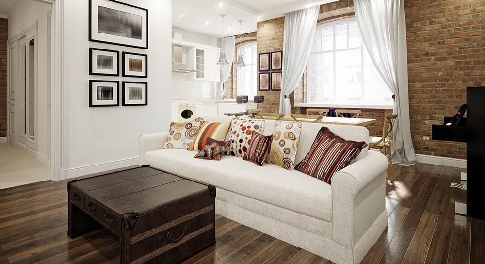 Decoración salón casa tonos cálidos